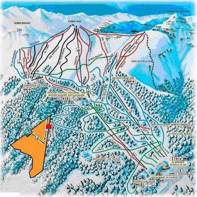 Cabañas en Cerro Chapelco San Martin de los Andes Mapa Cerro Chapelco y Las Pendientes